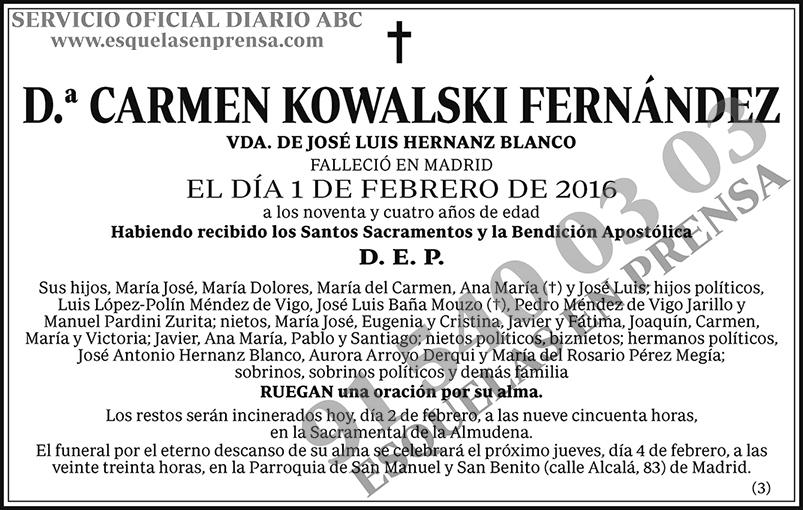 Carmen Kowalski Fernández